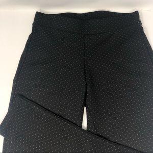 NEW Lark + Grey Petite Pull-On Polka Dot Pants PS